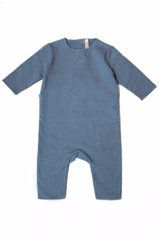 Gray Label babysuit, økologisk, Denimblå