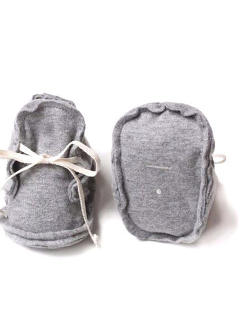 Gray Label Raw Edged Booties, Grey Melange