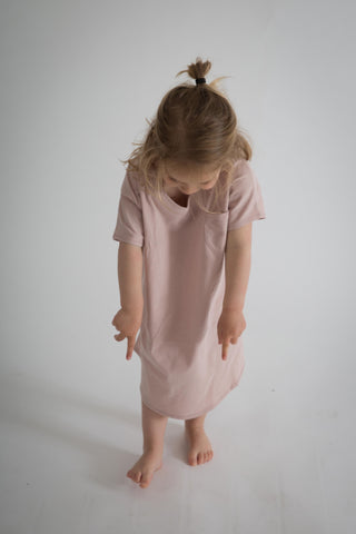 Gray Label oversized tee dress, rosa