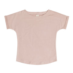 Gray Label Wide Neck T-shirt, økologisk, Rosa