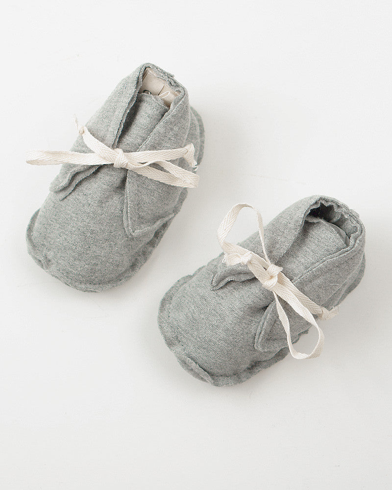 Gray Label Booties baby futsko, økologisk, Grey Melange
