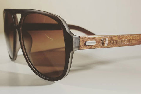 Aviator Sunglasses (Brown) - Ghimicelli