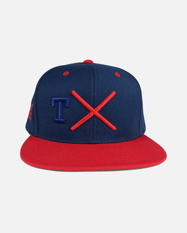 Texas Snapback Navy Red (T Navy) - Ghimicelli