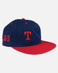 Texas Snapback Navy (T Red) - Ghimicelli