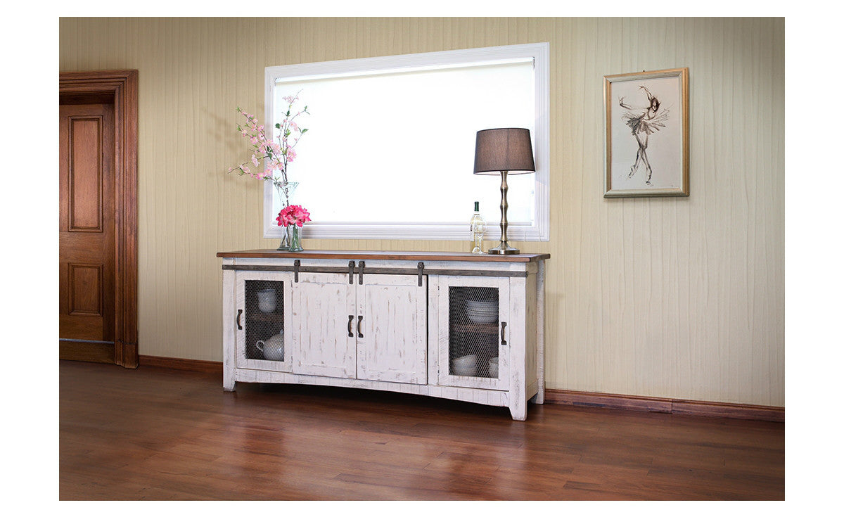 Stella white tv console 80 70 and 60 width
