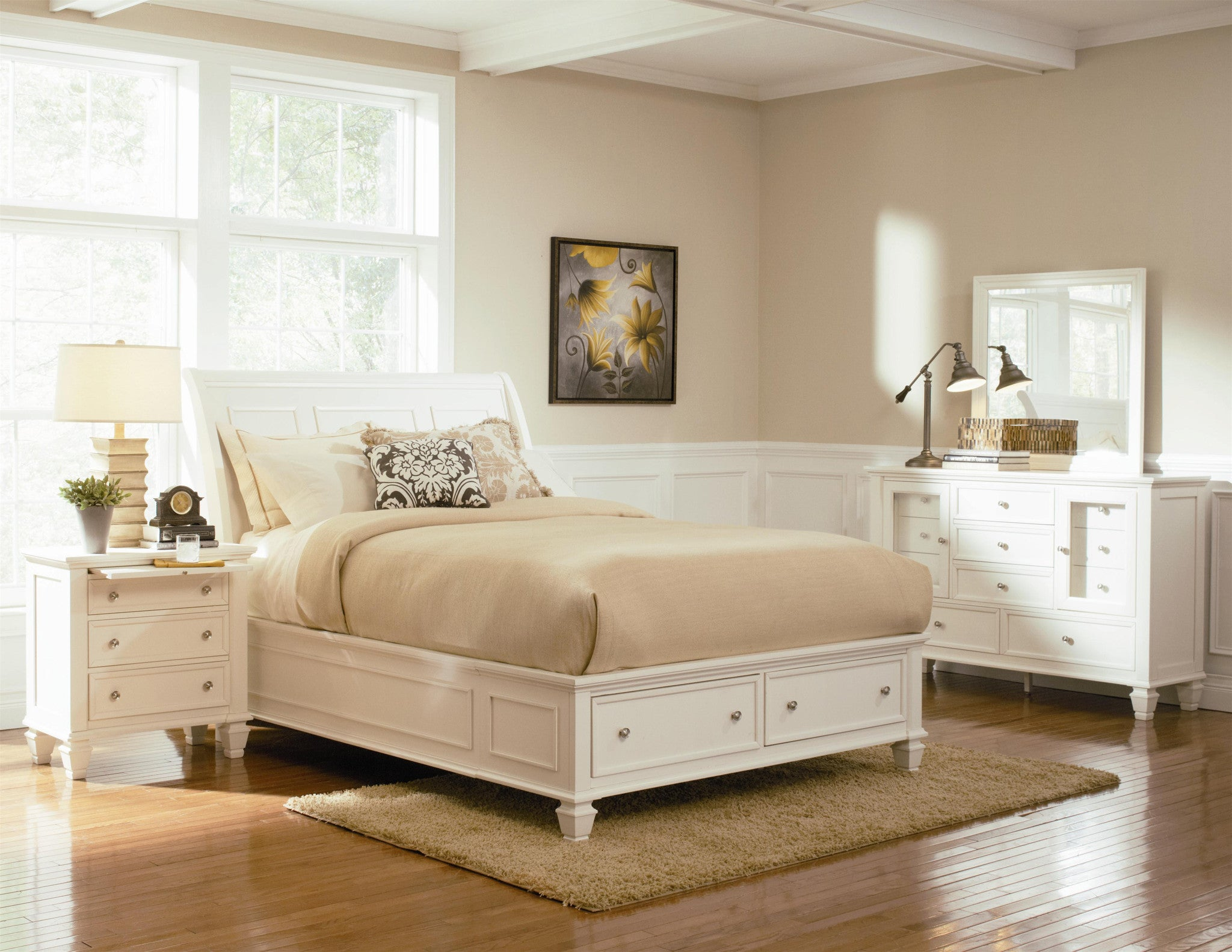 samantha bedroom collection white black or cappuccino black or white furniture