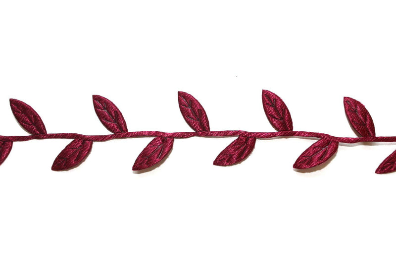 Wine Leaf Ribbon - Peak Bloom  - 1
