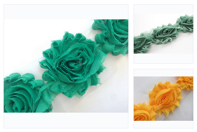 Shabby Rose Flower Trims (Yellows, Greens) - Peak Bloom