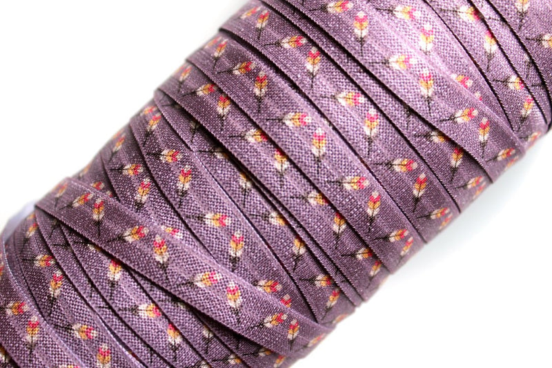"3/8"" Falling for Aztec Collection Fold Over Elastics - Peak Bloom"