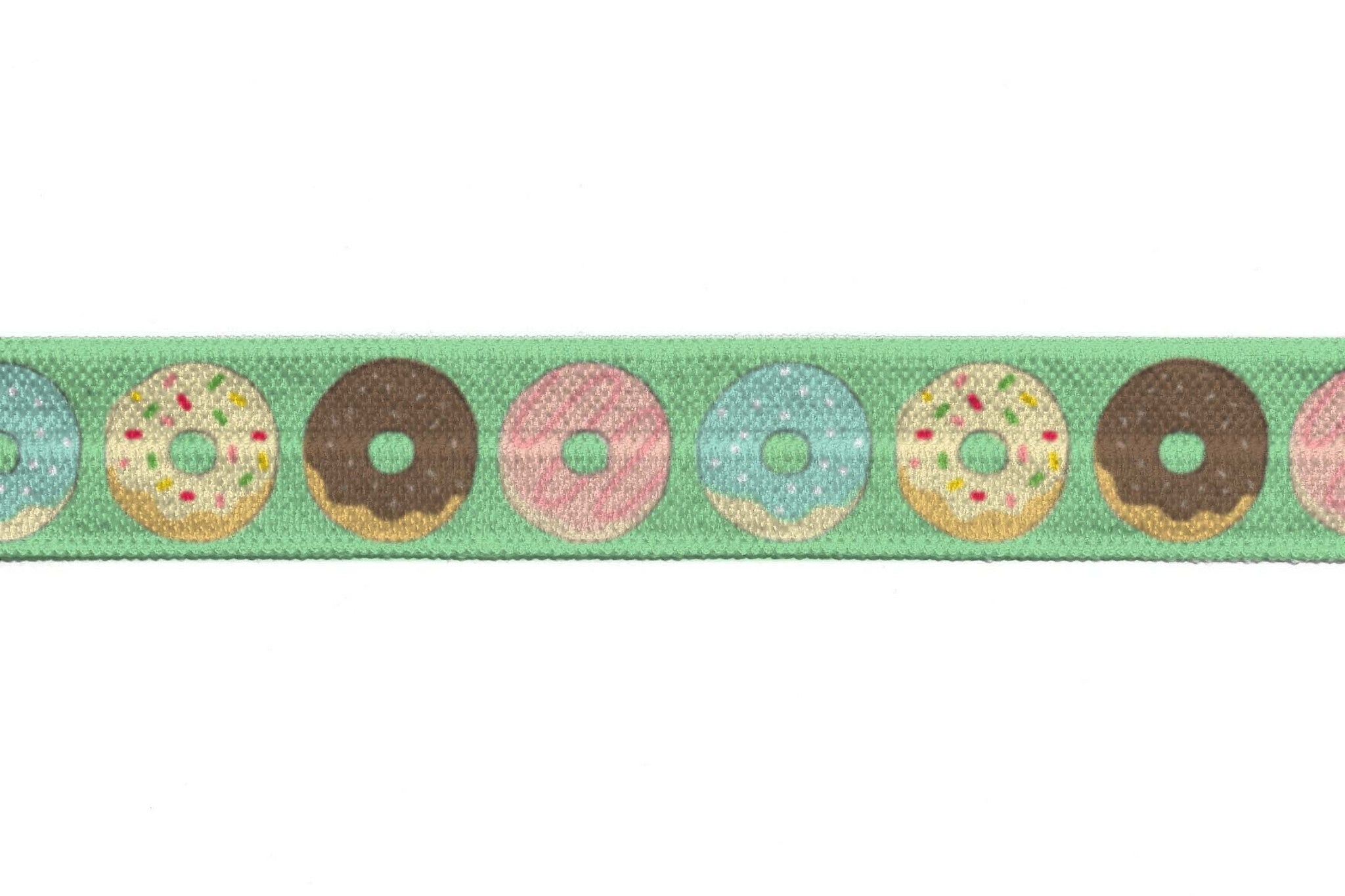 "5/8"" Green Doughnuts Fold Over Elastic - Peak Bloom"