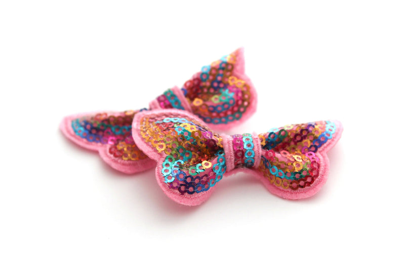 Small Sequin Butterfly Bows - Peak Bloom