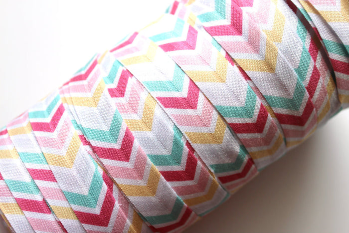 "5/8"" Chevron (Soft Print) FOE - Peak Bloom"