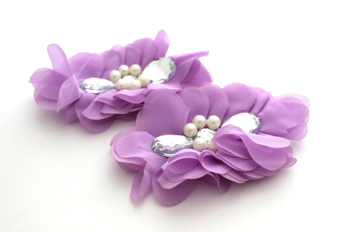 Extra Large Tear Jeweled Pearl Flowers - Peak Bloom  - 11