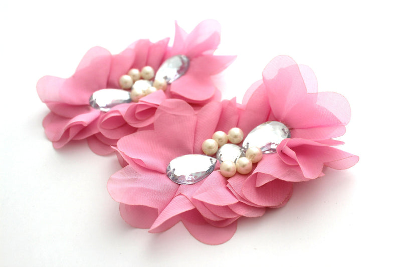 Extra Large Tear Jeweled Pearl Flowers - Peak Bloom  - 8