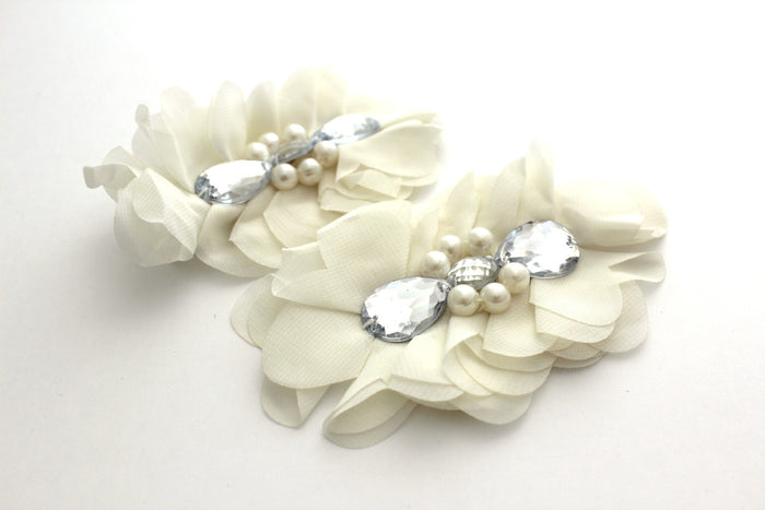 Extra Large Tear Jeweled Pearl Flowers - Peak Bloom