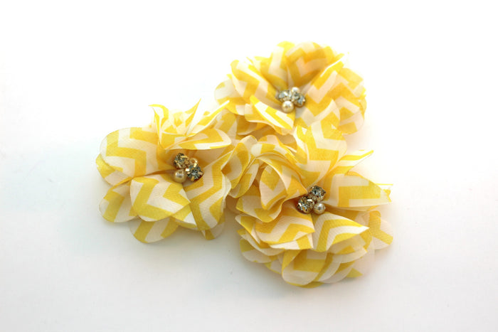 Rhinestone Chiffon Flowers - Peak Bloom