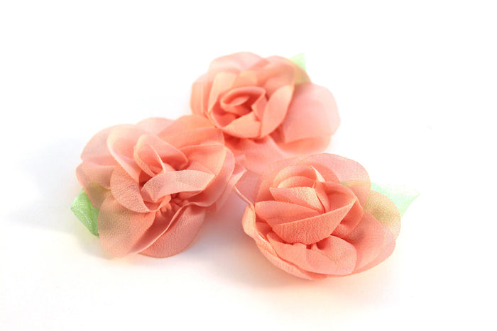 Petite Rose Chiffon Flowers - Peak Bloom