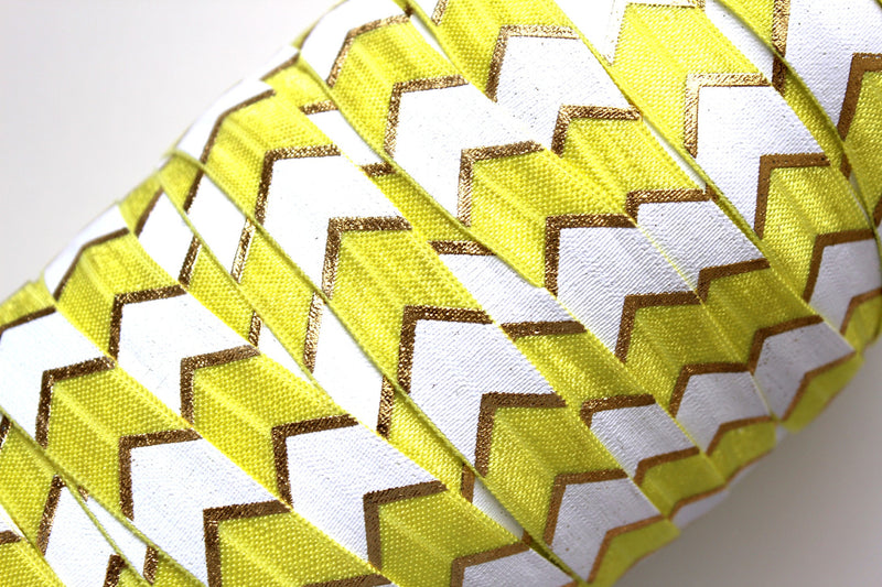 "5/8"" Fashion Chevron Fold Over Elastic - Peak Bloom"