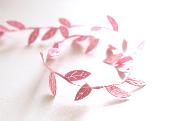 Pink Leaf Ribbon