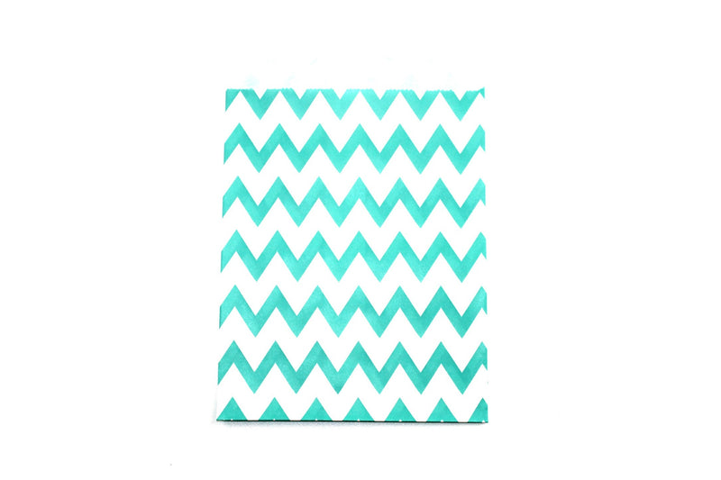 "Aqua Favor Bags - 5"" x 7"" - Peak Bloom"