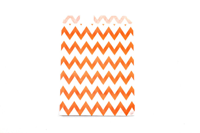 "Orange Favor Bags - 5"" x 7"" - Peak Bloom  - 3"