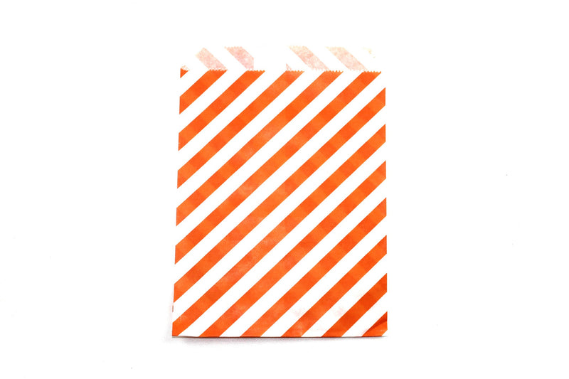 "Orange Favor Bags - 5"" x 7"" - Peak Bloom  - 4"