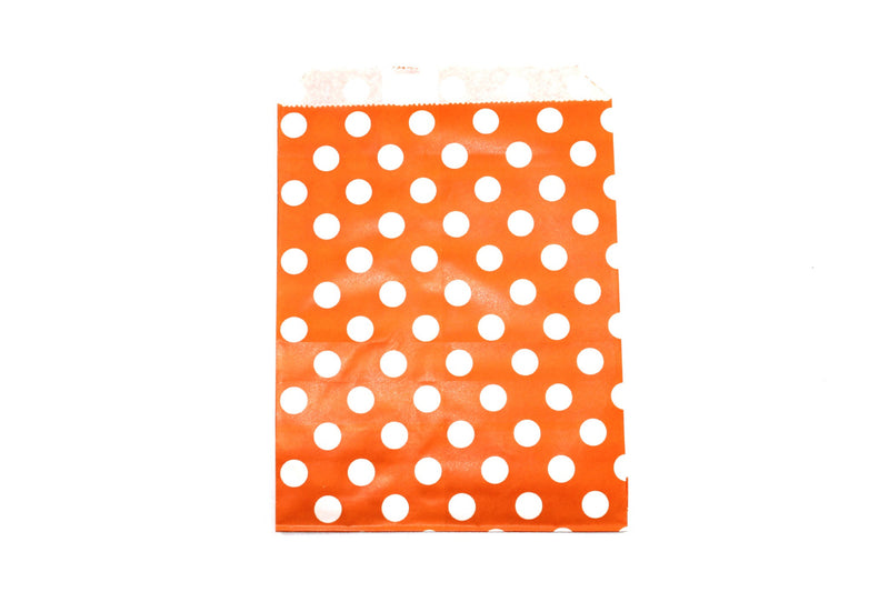 "Orange Favor Bags - 5"" x 7"" - Peak Bloom  - 5"