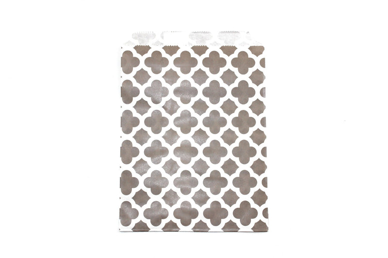 "Grey Favor Bags - 5"" x 7"" - Peak Bloom"