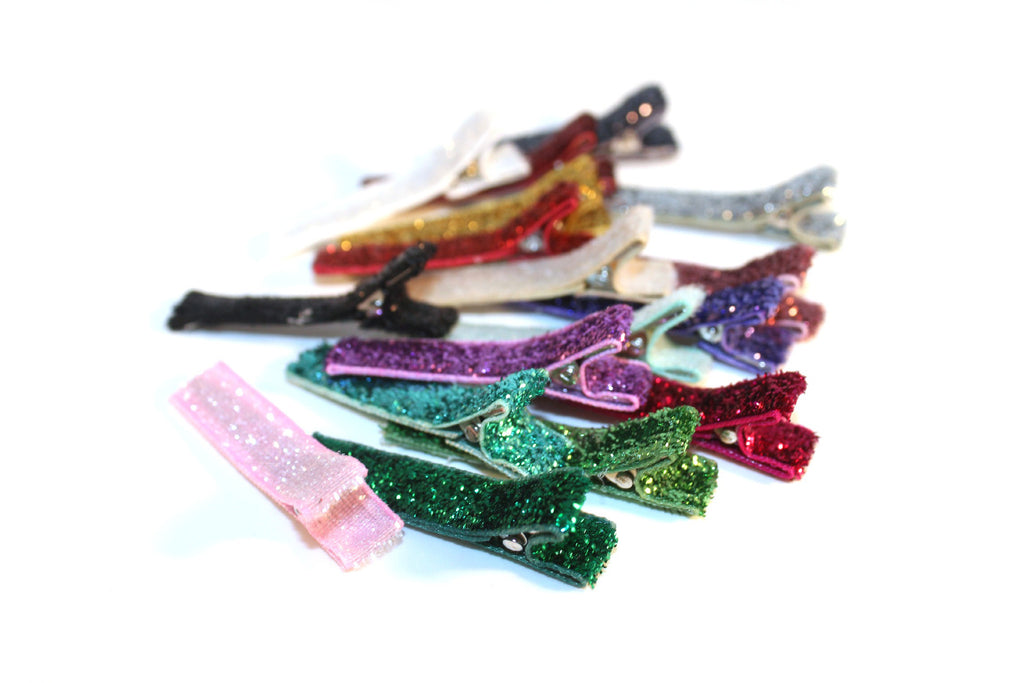 Partially Lined Clips (Glitter Colors)