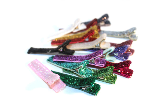 Partially Lined Clips (Glitter Colors) - Peak Bloom
