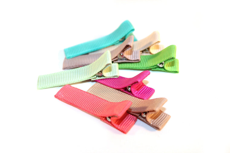 Partially Lined Clips (Solid Colors)