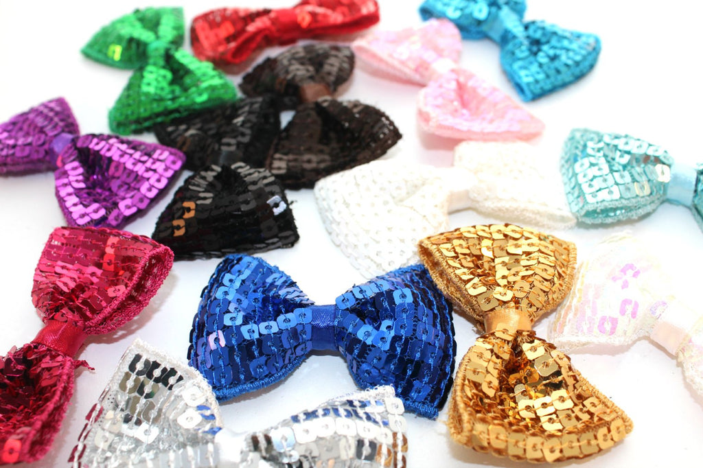 Small Sequin Bow Ties