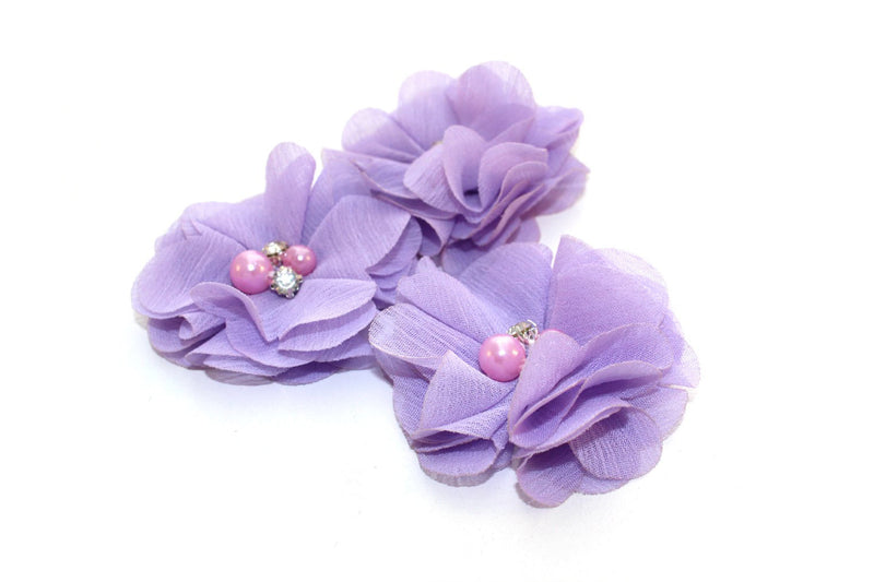 Mini Rhinestone Chiffon Flowers - Peak Bloom