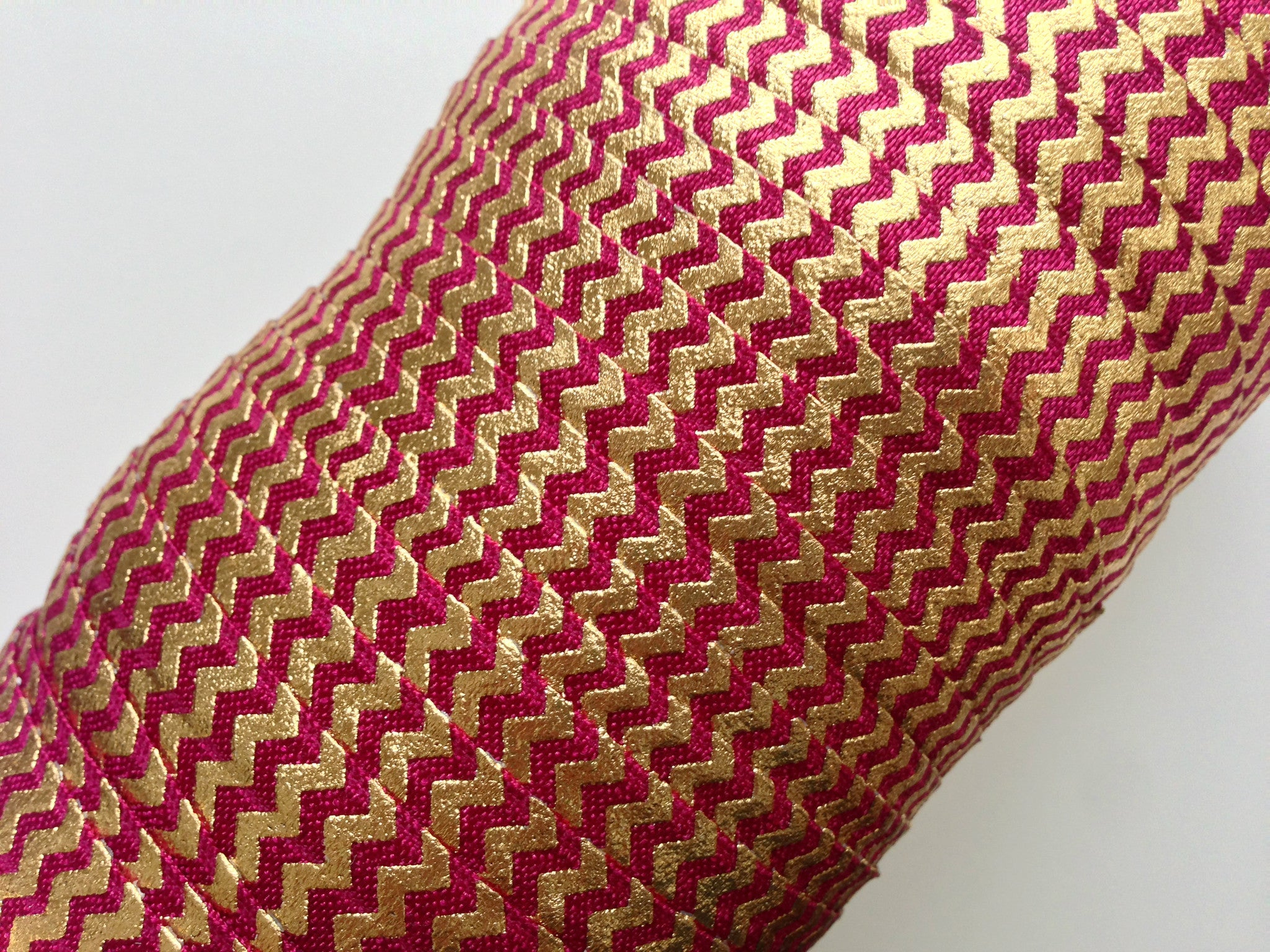 "5/8"" Gold Chevron Fold Over Elastic - Peak Bloom"