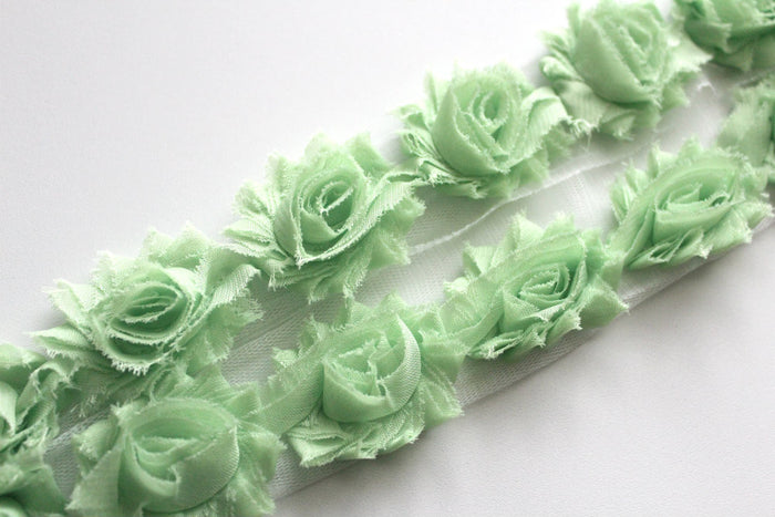Petite Shabby Flower Trims (Solid Colors) - Peak Bloom