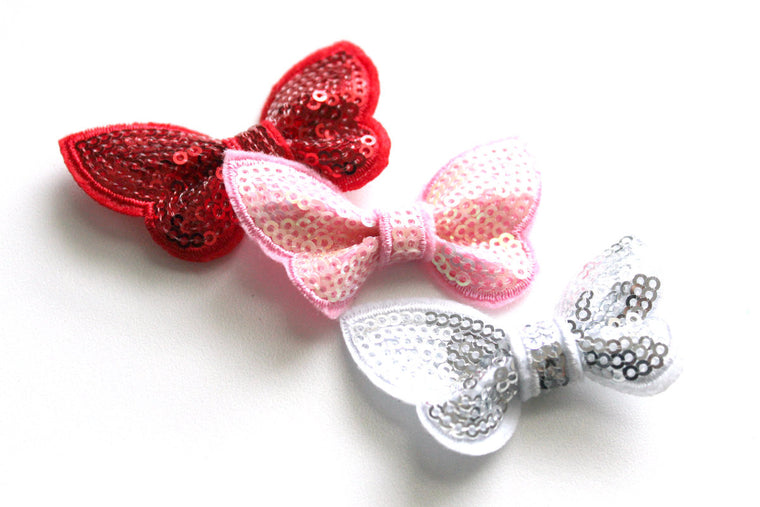 Small Sequin Butterfly Bows