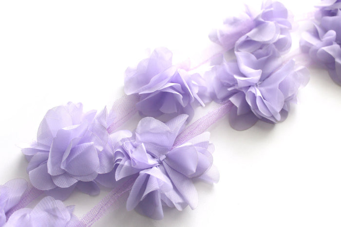Chiffon Petal Flower Trims - Peak Bloom