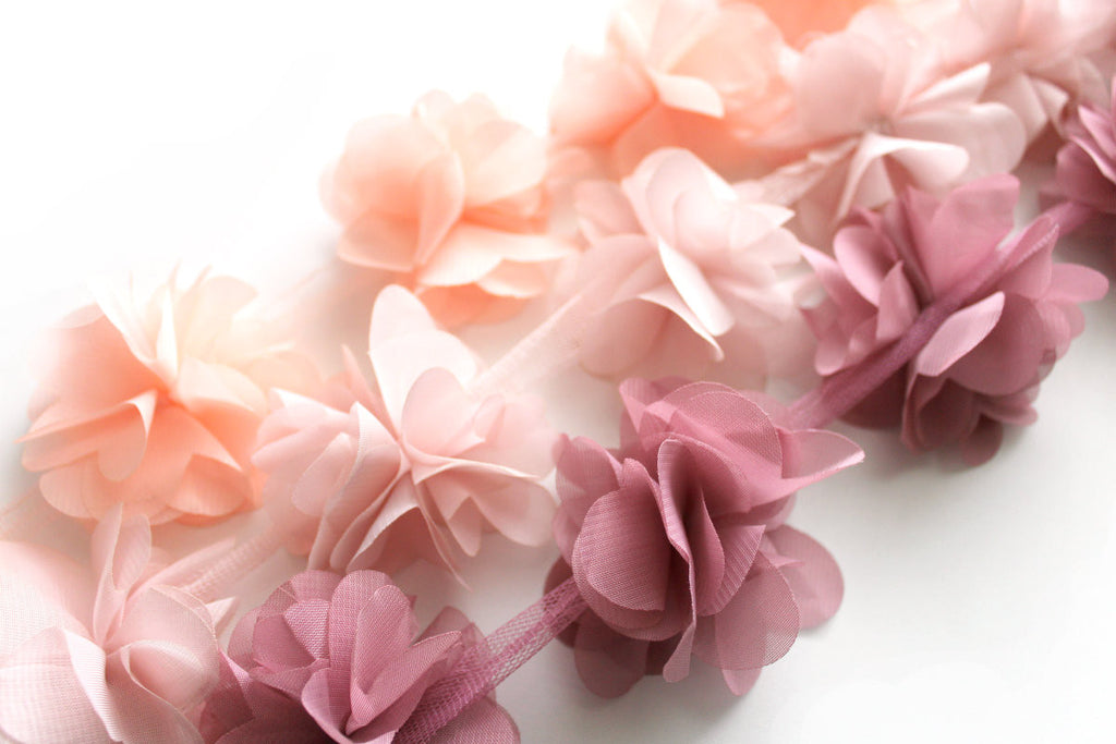 Chiffon Petal Flower Trims