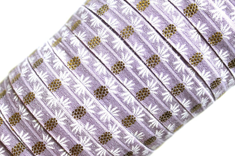 "5/8"" Pineapple Fold Over Elastic - Peak Bloom  - 2"