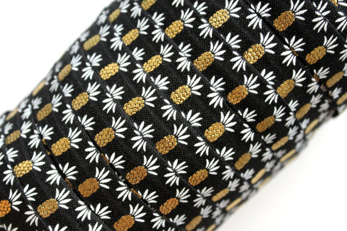 "5/8"" Pineapple Fold Over Elastic - Peak Bloom  - 3"