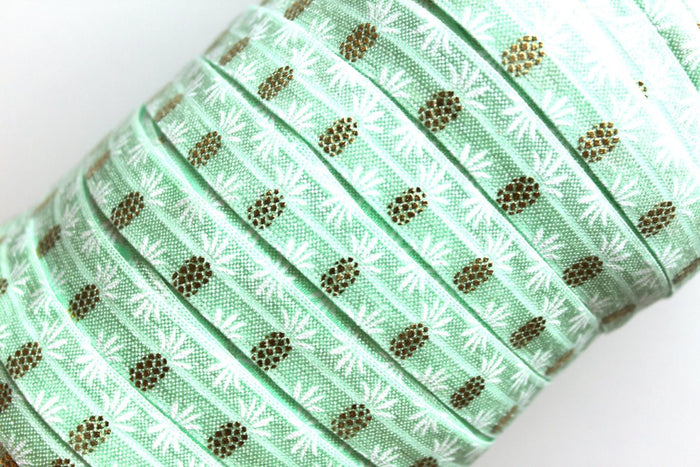 "5/8"" Pineapple Fold Over Elastic - Peak Bloom  - 4"