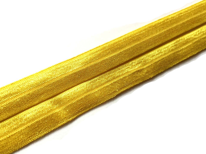 "5/8"" Mustard Fold Over Elastic - Peak Bloom"