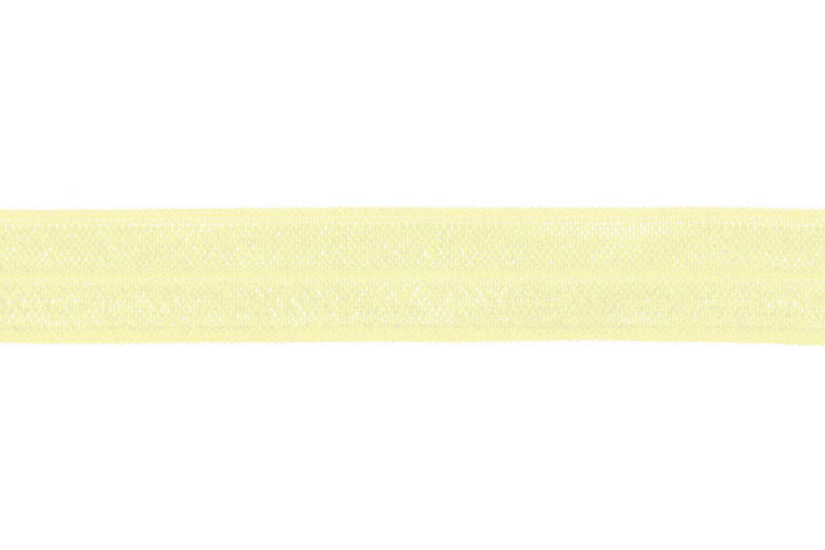 "5/8"" Lemon Custard Fold Over Elastic - Peak Bloom"
