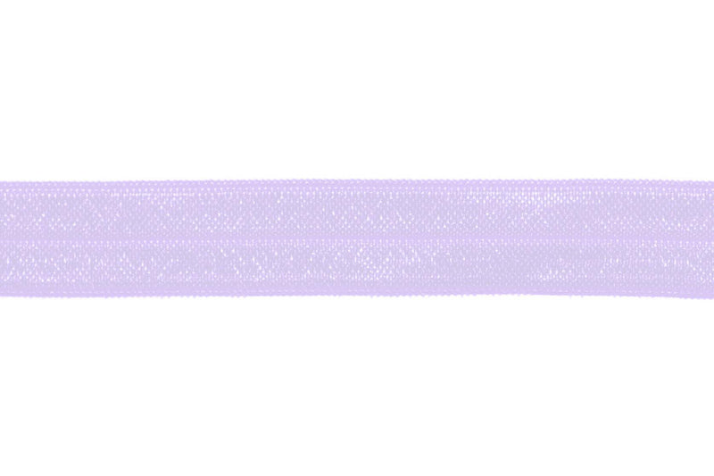 "5/8"" Light Orchid Fold Over Elastic - Peak Bloom  - 1"