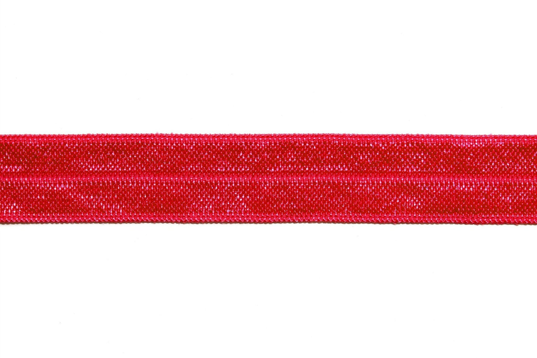 "5/8"" Ruby Red Fold Over Elastic - Peak Bloom"