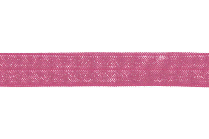 "5/8"" Victorian Rose Fold Over Elastic - Peak Bloom"