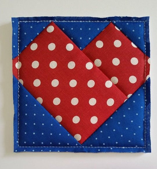ITH QUILTING BLOCK # 14 - HEART