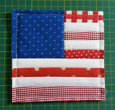 ITH QUILTING BLOCK # 22 AMERICAN FLAG