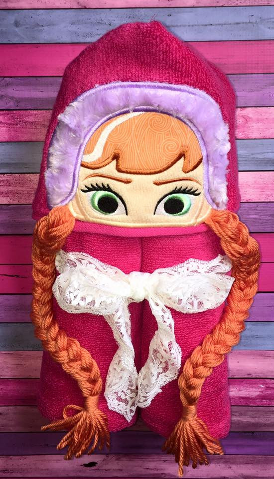 5x7 ICE PRINCESS ANNA FOR HOODED TOWEL