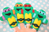 NINJA TURTLE FINGER PUPPET PATTERNS (SET)